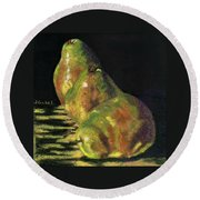 Me First Pears Round Beach Towel