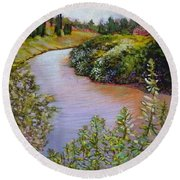 Meadow And Marsh Round Beach Towel