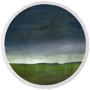 Meadow At Sunset Round Beach Towel
