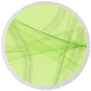 Meadow Computer Graphic Line Pattern Round Beach Towel