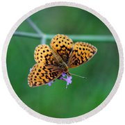 Meadow Fritillary Butterfly 2015 Round Beach Towel