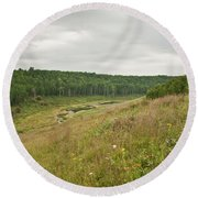Meadow Green Round Beach Towel