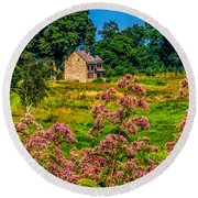 Meadow House At Longwood Round Beach Towel
