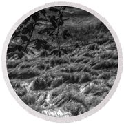 Meadow Of Montaigle Round Beach Towel
