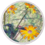 Meadow Out Loud Round Beach Towel
