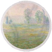 Meadows In Giverny Round Beach Towel
