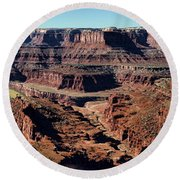 Meander Overlook - Dead Horse Point - Panorama Round Beach Towel