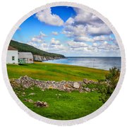 Meat Cove Round Beach Towel