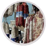 Meats And Sausages  Round Beach Towel