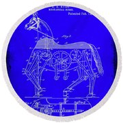 Mechanical Horse Patent Art 1b           Round Beach Towel