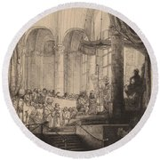 Medea, Or The Marriage Of Jason And Creusa Round Beach Towel