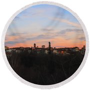 Mediaval Town Round Beach Towel