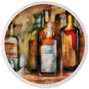 Medicine - Syrup Of Ipecac Round Beach Towel