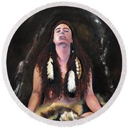 Medicine Woman Round Beach Towel