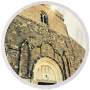 Medieval Abbey - Fossacesia - Italy 5 Round Beach Towel