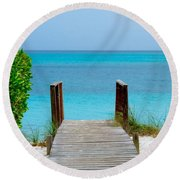 Meditation Point Round Beach Towel