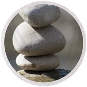 Meditation Stones Round Beach Towel