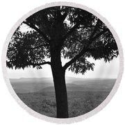 Meditation Tree  Round Beach Towel