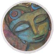 Meditative Awareness Round Beach Towel by Prerna Poojara