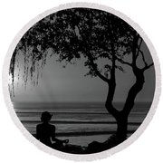 Meditative State Round Beach Towel