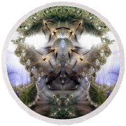Meditative Symmetry 5 Round Beach Towel