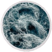 Mediterranean Sea Art 112 Round Beach Towel