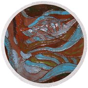 Medusa - Tile Round Beach Towel