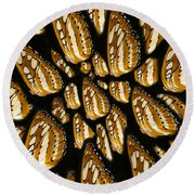Meeting Of The Butterfly  Round Beach Towel