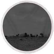 Meeting On The Hill.. Round Beach Towel