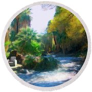Meeting Place Round Beach Towel by Snake Jagger
