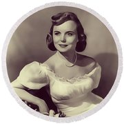 Meg Randall, Vintage Actress Round Beach Towel