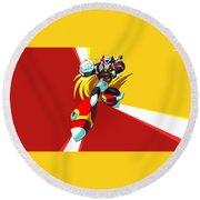 Mega Man X Round Beach Towel