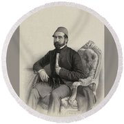Mehmed Cemil Bey Round Beach Towel