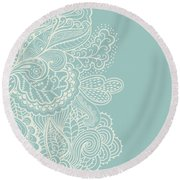 Mehndi Round Beach Towel