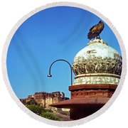 Mehrangarh Fort - Approach With Caution Round Beach Towel