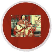 Mel Tillis Famous Country Music Entertainer  Round Beach Towel