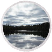 Melancholy Reflections Round Beach Towel