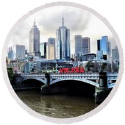 Melbourne 2014 Aids Conference Round Beach Towel