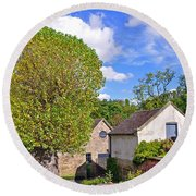 Melbourne Hall Mill - Derbyshire Round Beach Towel