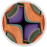 Melded Windows Round Beach Towel