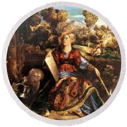 Melissa Circe 1507 Round Beach Towel