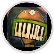 Melodica Mouth Round Beach Towel