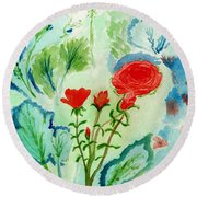 Melody Of Color Round Beach Towel