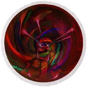 Melted Magic Round Beach Towel