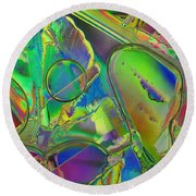 Melting Ice Round Beach Towel