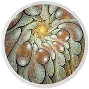 Melting Motions Round Beach Towel