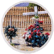 Memorial 1 Round Beach Towel