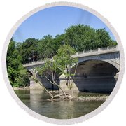 Memorial Bridge Round Beach Towel