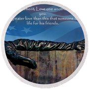 Memorial Day Remember Round Beach Towel