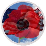 Memorial Day - Remembrance Day - Armistice Day Round Beach Towel